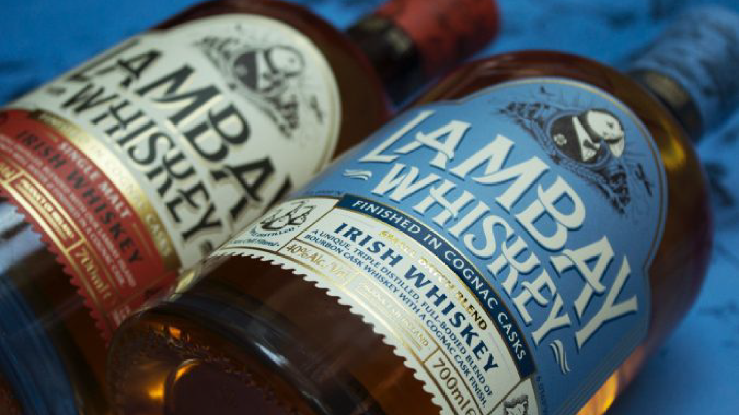 Lambay Whiskey bottles