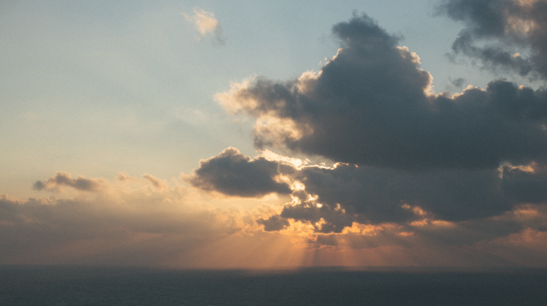 View of the sky and clouds from Lambay Island